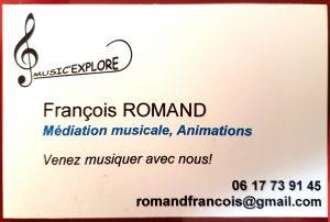 François ROMAND, Enseignant en Musique à domicile